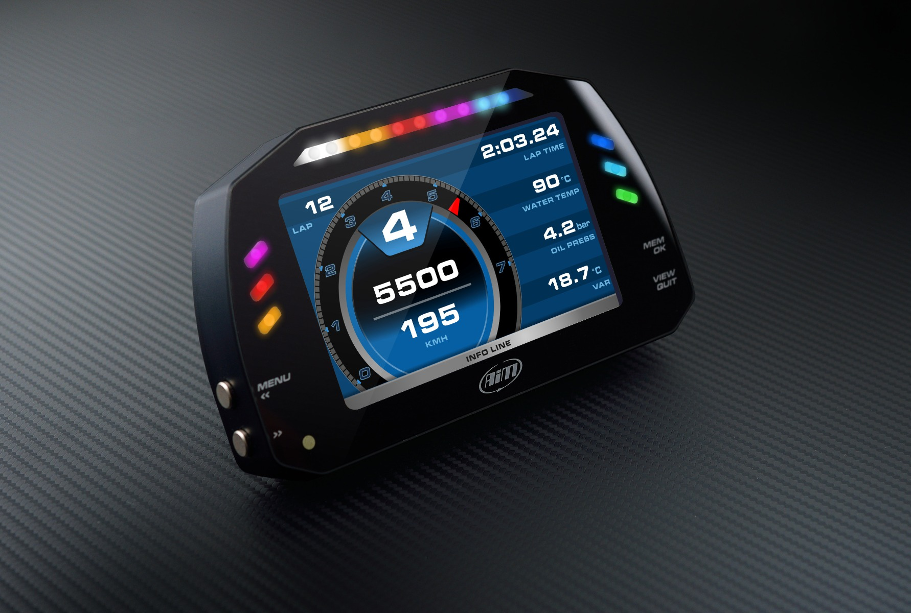 AiM Sports MXS 1.2 Compact Color TFT Dash And Data Logger