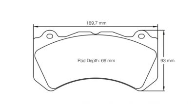 Pagid Racing Brake Pads No. 8081