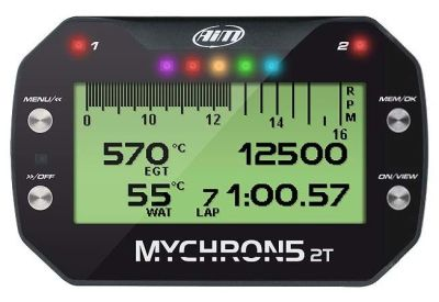 AiM Sports MyChron5 2T Dual-Temperature Karting Dash and Data Logger