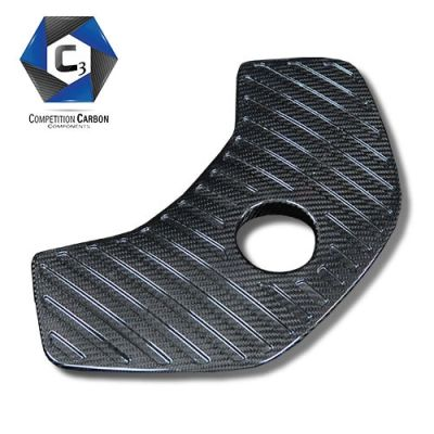 C3 Carbon McLaren MP4-12C/650S Carbon Fiber Coolant Tank Cover (Ribbed)