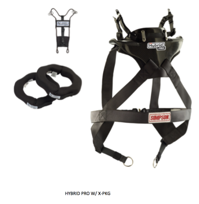 Simpson Hybrid X Drag Racing Head and Neck Restraint Package