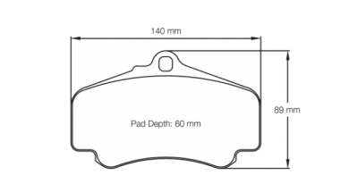 Pagid 2474 FRONT (for Steel Rotors)