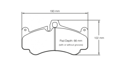 Pagid 2707 FRONT (for Steel Rotors)