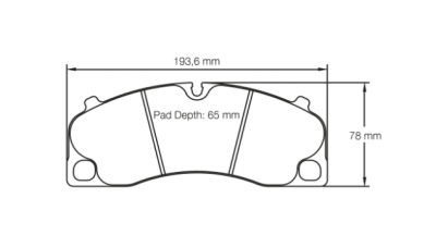 Pagid 4908 RSL29 FRONT (for Steel Rotors)