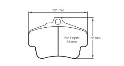 Pagid 2405 FRONT (for Steel Rotors)